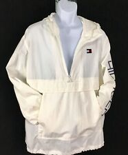 New Tommy Hilfiger Mens Windbreaker Half ZIP Sail Jacket...