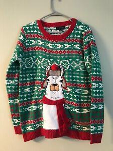 Blizzard Bay boys/youth ugly christmas sweater llama XL 18-20