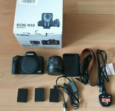 Canon EOS M50 Mirrorless Digital Camera with 15-45mm Lens & EXTRA BATTERY &MORE