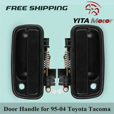 Pair for 1995-2004 Toyota Tacoma Exterior Outside Door Handle Black Left Right