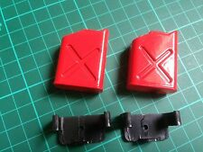 Pair Of Red Plastic Fuel Cans  For 1/10 RC Rock Crawler Accessory etc