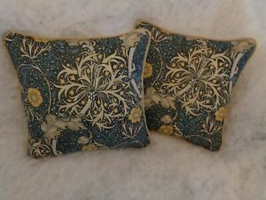 """SEAWEED INK/WOAD BEAUTIFUL DESIGN  BY WILLIAM MORRIS1 PAIR OF 18"""" CUSHION COVER"""