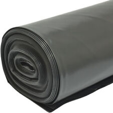 4M X 25M 500G Black Heavy Duty Polythene Plastic Building Dust Rubble Sheet DIY