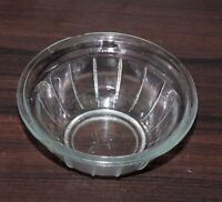 Old Antique Beautiful Clear Glass Design Pattern Candy Nut Desert Bowl #0086