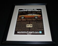 1976 Plymouth Arrow Framed 11x14 ORIGINAL Vintage Advertisement