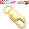 14K Yellow Gold Solid Lock Chain Jewelry Claw Clasp Connection Lobster Clasp New