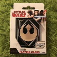 Star Wars Heroes Playing Cards With Collectible Embossed Tin The Last Jedi