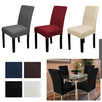 1/2/4 PCS Removable Dining Seat Chair Covers Slip Stretch Wedding Banquet Party