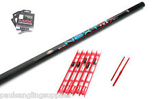 Lineaeffe 7 m Telescopic Fishing Pole & 5 Assorted pole rigs,hooks & disgorgers