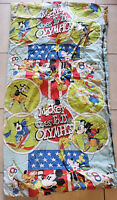 Vintage Mickey Mouse And Friends Disney Kids sleeping bag Zipper Olympics