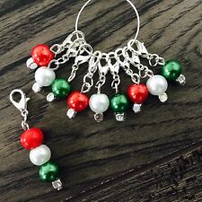 Knitting Crochet Stitch Markers, wales Colour Theme Markers