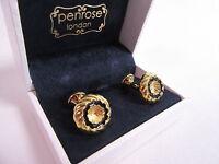 Penrose of London Designer Kronos B Gold Round Swirl Cufflinks - RRP £120 #CL6