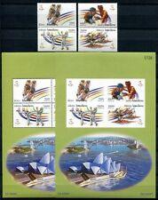 Laos Lao 2000 Olympiade Olympics Sydney 1727-1730 Block 181 B C Perf Imperf MNH