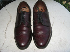 Allen Edmonds Concord wing tips Mens Size 8 D brown Leather nice