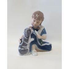 Royal Copenhagen bimba con coniglio 11cm Figurine 1249363