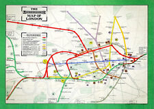 London Underground tube map - 1911, A3 print