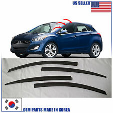 A138 SMOKED DOOR WINDOW VENT VISOR SUN DEFLECTOR HYUNDAI ELANTRA GT 2013-2016