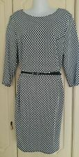 BNWT FLORENCE & FRED Monochrome Jacquard Ponte Dress in Size 22