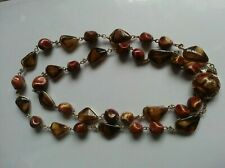 women stone necklace two string West Germany