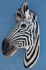 Large Zebra Head Bust Wall Mount Taxidermy Replica Lodge Decor New