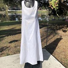2XL White Sleeveless Wedding Dress Womens Plus Bridal Gown Beaded Rosettes Bride