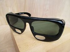DUCAL 1324 vintage black glass lens reader +3.0 made Japan sunglasses