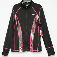 New Fila Womens Athletic Running Jacket Size Med Sportswear Zip Up Top T-Shirt