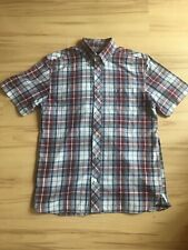 Fred Perry Short Sleeved Check Men's Shirt Mod Size Medium