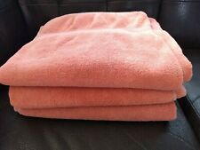 RALPH LAUREN CHAPS coral pink (3PC) BATH TOWELS SET 26 X 52