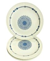 "4 Pontesa Castilian Collection Granada Mandala Dinner Plates Large 10 1/4"" Spain"