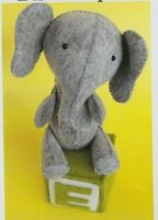 PATTERN - E is for Elephant - cute softie/toy PATTERN - Ric Rac