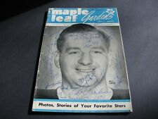 TORONTO MAPLE LEAF GARDENS FEB. 21st 1951 AUTOGRAPHED PROGRAM SIGNED BY 19