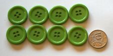 8 x 25MM RIDGED BUTTONS - LEAF GREEN SHADES MATCHING - Sewing - Scrapbooking