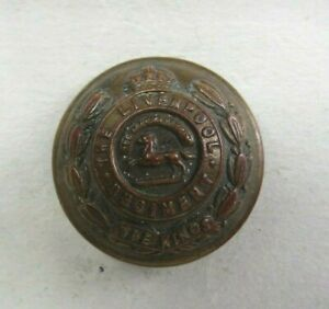 Military 25 mm Brass Button King's Regiment Liverpool British Army