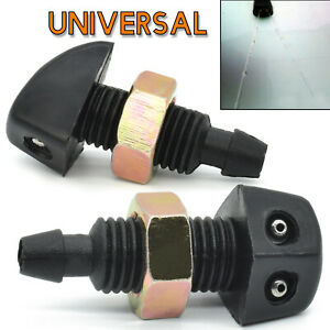 Car Universal Front Windshield Wiper Washer Sprinkler Water Outlet Nozzle 2pcs