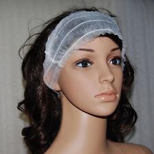 6pcs Women Waxing Tanning Salon Disposable Spa Stretch Headband Hairband white