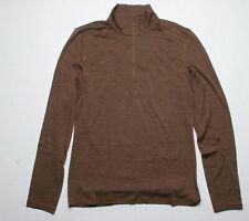 Icebreaker Merino 200 Oasis LS Half Zip Pullover (M) Bronze Heather