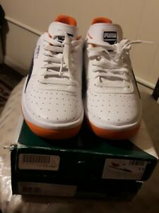 Preowned Puma GV Special Men's Sneakers Sz 11 White- peacoat- orange