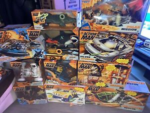 Action Man Collection of Boxed Hasbro 1994 onwards figures and vehicles all used