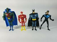 Set Of 4 DC Animated Universe Action Figures Justice League Batman & Nightwing