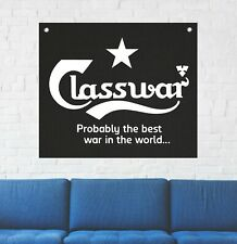 Class War Wall Tapestry Anarchy Human Liberation Rights Social Flag Sabotage Cat