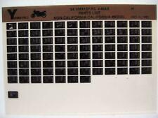 Yamaha VMX12 V-Max 1994 VMX1200F VMX1200FC  Parts List Manual Microfiche o30