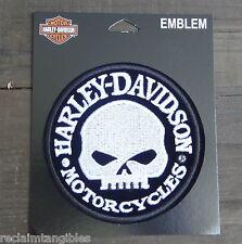 Harley Davidson Authentic Patch - Willie G Skull Hubcap - Medium Emblem Badge