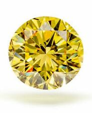 3ct Carat Yellow Lab Diamond:  rare Canary Diamond 10mm