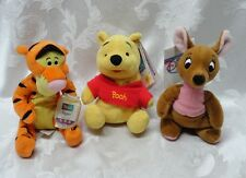 Disney Winnie the Pooh Kanga Tigger New w Tags Star Bean Mattel Hunny Pot
