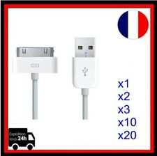 FR POSTE CABLE USB CHARGEUR POUR IPHONE 4 4S 3 3GS IPAD IPOD ITOUCH FR LOCALE FR