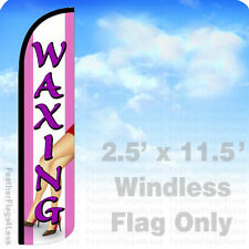 2.5x11.5 Windless Swooper Feather Flag Banner Sign - Waxing pz
