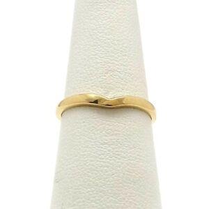 14k Gold Notched V Ring Wedding Band Enhancer