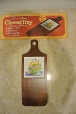 Nature's Charm Cheese Tray With Colorful Tile Inlay, Quality Hard Wood