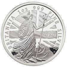 1 Ounce Silver Proof Britannia 2 £ Pound United Kingdom 2020 Royal Mint